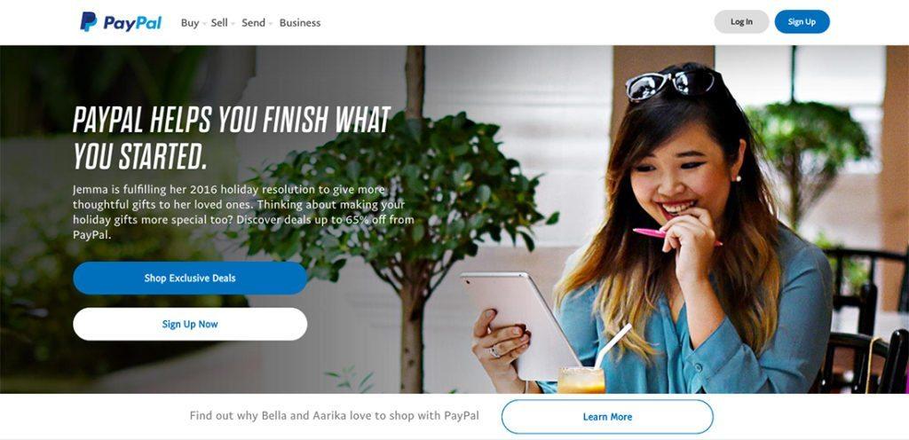 PayPal Landing