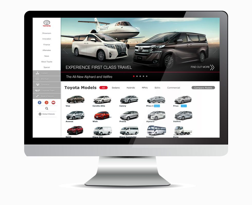 Toyota Singapore Homepage