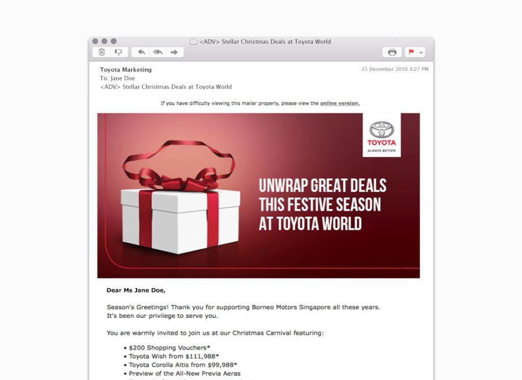 Toyota Marketing EDM Sample