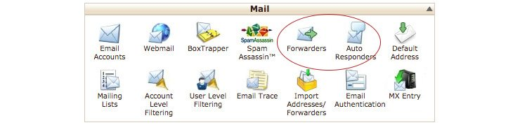 Forwarder in Cpanel