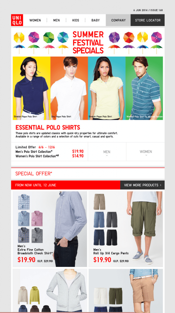 Uniqlo EDM Issue 168