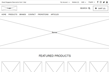 Sample of Wireframe